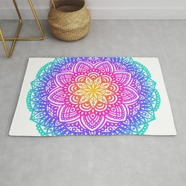 Circular Mandala - Rainbow Rug