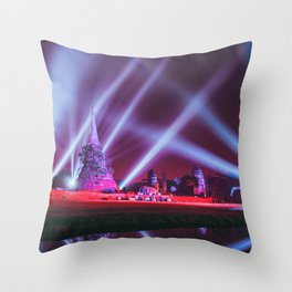 Ayutthaya lights Throw Pillow