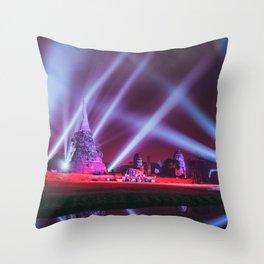 Ayutthaya lights Throw Pillow