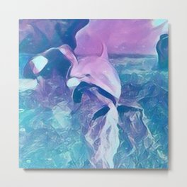 Dolphin Art Metal Print