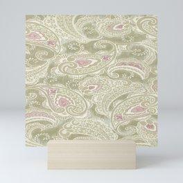 batik paisley warm Mini Art Print