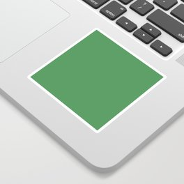 Solid Light Forest Green Color Sticker