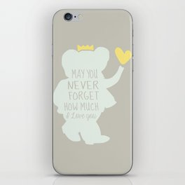 Babar inspired-May you never forget how much I love you iPhone Skin