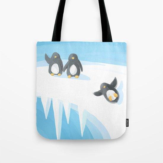 Penguin Playground Tote Bag
