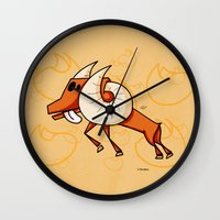 aries Wall Clocks featuring Aries by Giuseppe Lentini