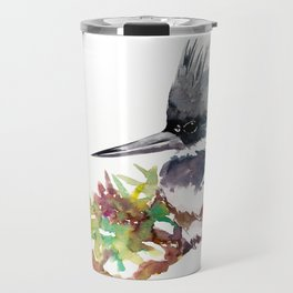 Belted Kingfisher Travel Mug