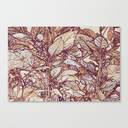 abstract camouflage leaves Canvas Print