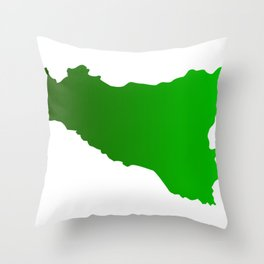 sicilian map Throw Pillow
