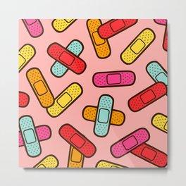 Rainbow Band-Aids Metal Print