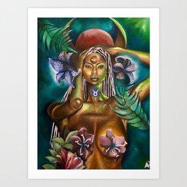 Taurus Goddess Art Print