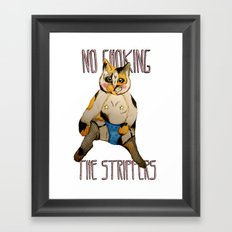 Cats Are Classy Framed Art Print