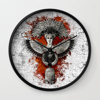 phoenix Wall Clocks featuring Phoenix by Diogo Verissimo