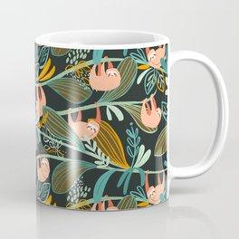 Jungle Sloths Dark Coffee Mug