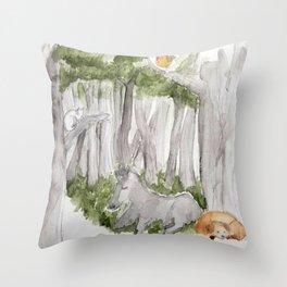 Town Musicians of Bremen Throw Pillow