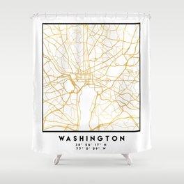 WASHINGTON D.C. DISTRICT OF COLUMBIA CITY STREET MAP ART Shower Curtain