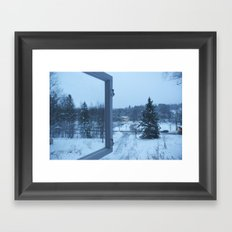 The Blue Moment - Finland in the winter #4 - Fiskars Artist Village  Framed Art Print