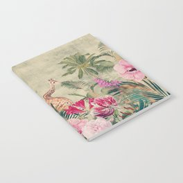 Vintage & Shabby Chic - Tropical Animals And Flower Garden Notebook