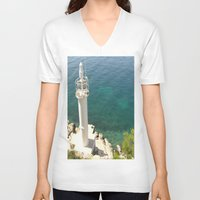 lighthouse V-neck T-shirts featuring Lighthouse by Bitifoto