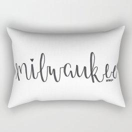 EED - Milwaukee Font Rectangular Pillow