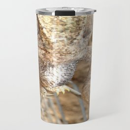 Chameleon Walking on A Wire Travel Mug