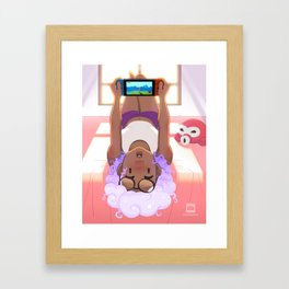 Playing Games Framed Art Print