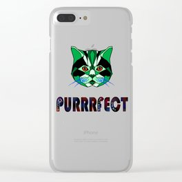 Purrfect,Quit hiding your magic, the world is ready for you Clear iPhone Case