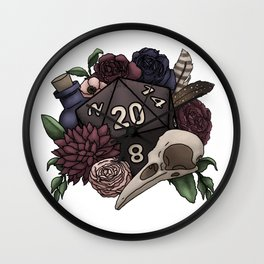 Necromancer D20 Tabletop RPG Gaming Dice Wall Clock