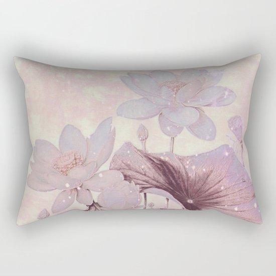 pastel waterlily Rectangular Pillow