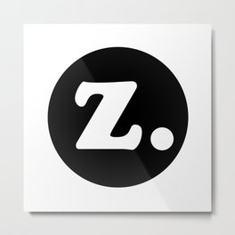 The Letter Z. Metal Print