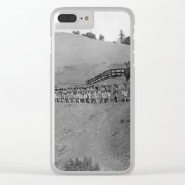 World War I Camp Fremont Solders in Palo Alto Clear iPhone Case