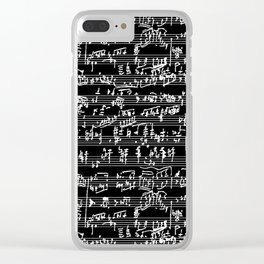 Hand Written Sheet Music // Black Clear iPhone Case