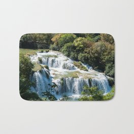 Waterfall in Krka National Park - Croatia Bath Mat