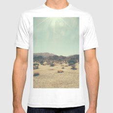 Wishing you were an endless sky White Mens Fitted Tee MEDIUM