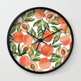 Peach Love Wall Clock