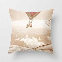 Wednesday Dream - Chasing Planes Throw Pillow