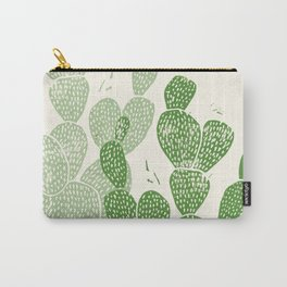 Linocut Cactus #1 Carry-All Pouch