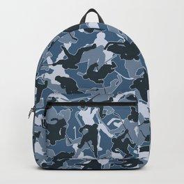 Ice Hockey Player Camo URBAN BLUE Backpack