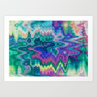 trippy Art Prints featuring Trippy by Dorothy Pinder