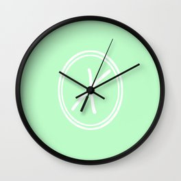 Monogram - Letter X on Mint Green Background Wall Clock