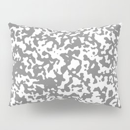 Small Spots - White and Gray Pillow Sham