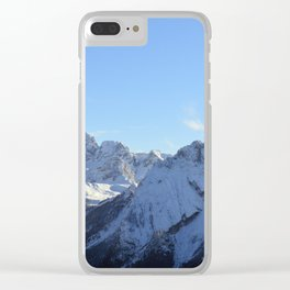 Snow Covered Mountain Clear iPhone Case