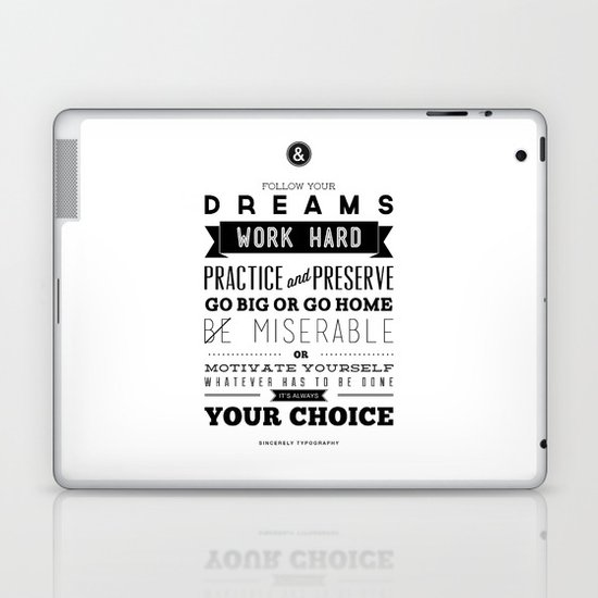 Sincerely Typography Laptop & iPad Skin