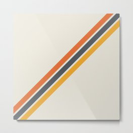 Classic Retro Stripes 03 Metal Print