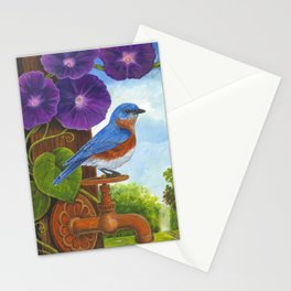 Bluebird and Rusty Faucet Stationery Cards