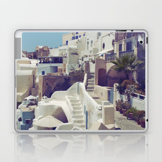 Streets of Santorini III Laptop & iPad Skin