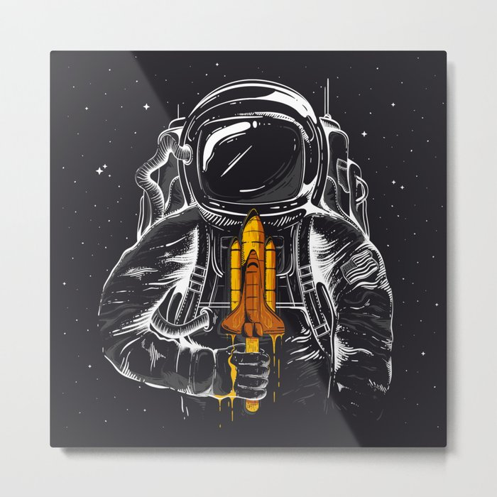 Space Popscicle Metal Print