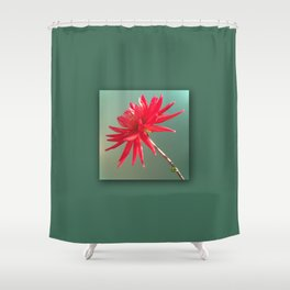 Red Imperfect Flower Shower Curtain