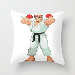 Ryu Hoshi Pixel Art Throw Pillow