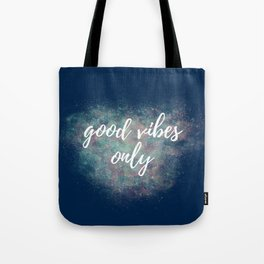 MultiColor Navy Good Vibes Only Tote Bag