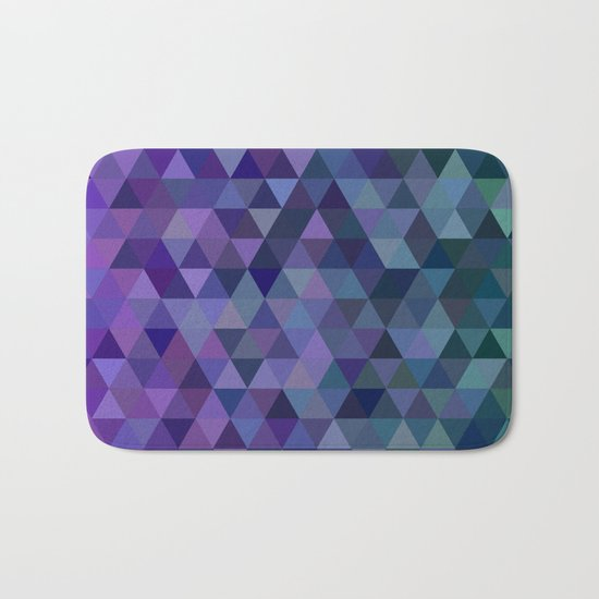 Triangle tiles Bath Mat